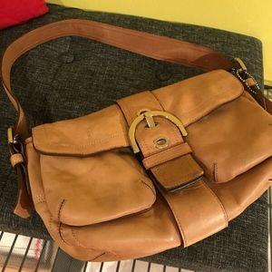 Coach 9434 Soho Light Brown Leather Shoulder Bag